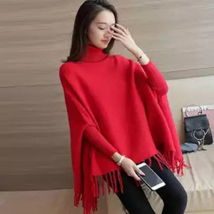 Stylish Plain Poncho For Women (1009)