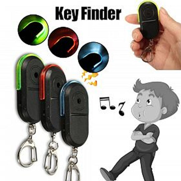 Pack of 2 Portable Wireless Anti-Lost Alarm Key Finder Locator Keychain Whistle Sound LED Light Mini Anti Lost Key Finder (1020)