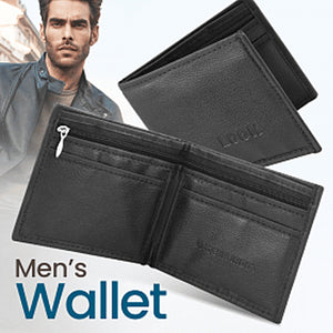 Pack Of 2, Leather Multi-design Credit Card Cash Holder Coin Wallet For Men, Black