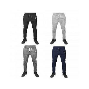 Mens Leisure Casual Drawstring Slim Sport Pants Elastic Waistband Trousers