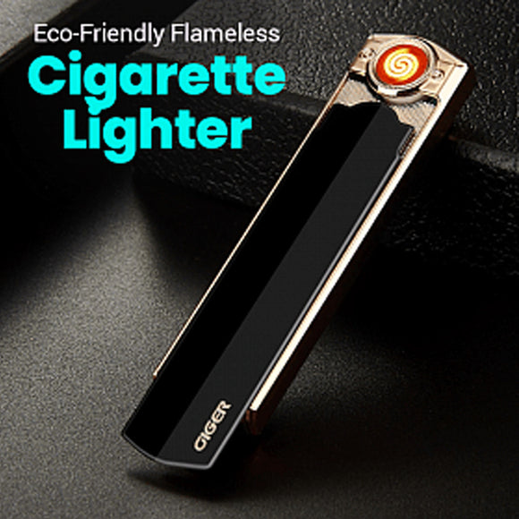 AWK Giger USB Rechargeable Eco-Friendly Flameless Windproof Cuboid Shape Electronic Cigarette Lighter (1021)