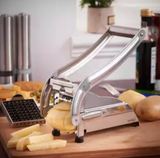 Handy Potato Cutter For French Fries Double Blade SS Professional - Silver