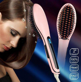Fast Hair Straightener Brush with Ceramic Plates