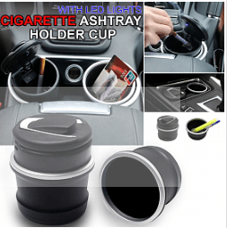 Superior Car Ashtray with LED Lights Cigarette Ashtray Holder Cup
