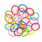 Pack Of 2, New Fashion Multicolor Mini Rubber Bands (Approximately 300)