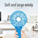 Foldable Hand Fans Battery Operated Rechargeable Handheld Mini Fan, Assorted Color