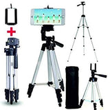Portable Camera Tripod with Three-dimensional Head & Quick Release Plate