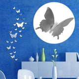 Acrylic Three-Dimensional Square Wall Stickers for the Bathroom, Monolithic Mecorative Mirror 3D