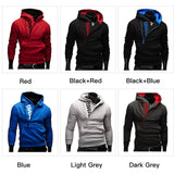 Random Color Fashion Cotton Men Hoodies Tracksuit Sweatshirt Men's Winter Warm Collar Cap Long Sleeves Clothing Swag Pullover Hoodies