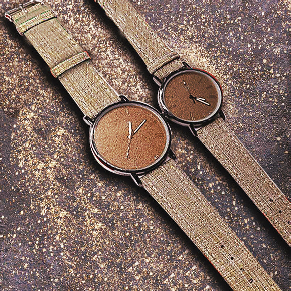 Pack of 2 Stylish Unisex Watches - Brown