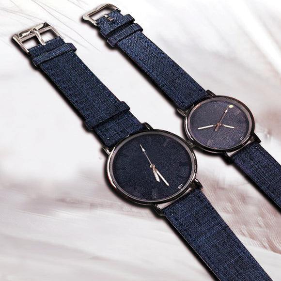 Pack of 2 New Stylish Unisex Watches -Dark Blue