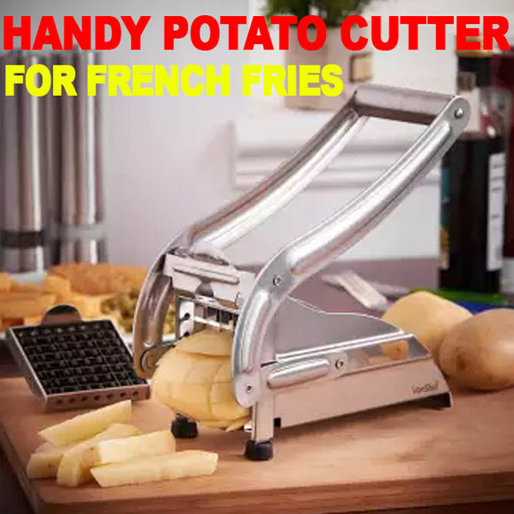 Handy Potato Cutter For French Fries Double Blade SS Professional