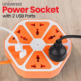 Multifunctional Smart Electric Universal Hexagon Power Socket Tower