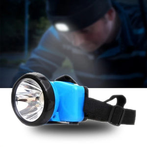 Rechargeable 1 Watt High-Power Head-Mounted Light With Charger