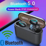 New Q32 TWS Truely Wireless Bluetooth 5.0 Earbuds Stereo TWS Sports Stereo In-Ear Earphones Touch Control Headphone with Charging Case (1027)