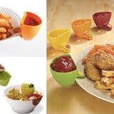 Pack of 3 x Cup Capacity Tiered Stand Dip Clip Ketchup Saucer Clamps Serving Condiments Bowl