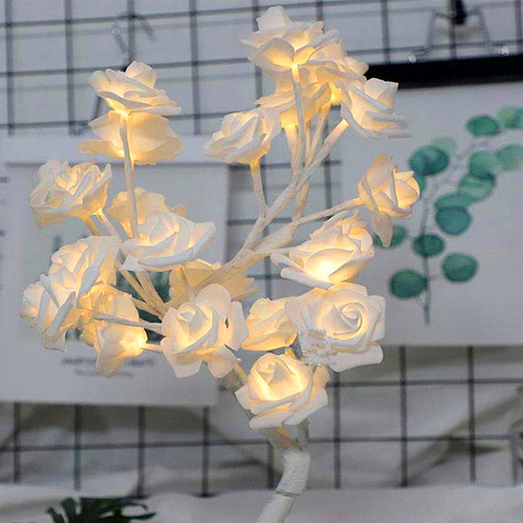 LED Rose Night Light Romantic Gift Table Lamp