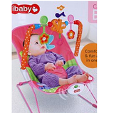 Ibaby Comfortable & Fun Cartoon Deluxe Bouncer For Kids 5+Months, Pink