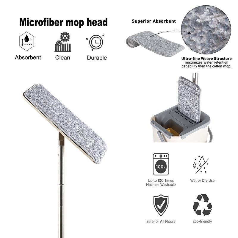 Hand Free Multifunctional Floor Cleaning Mop