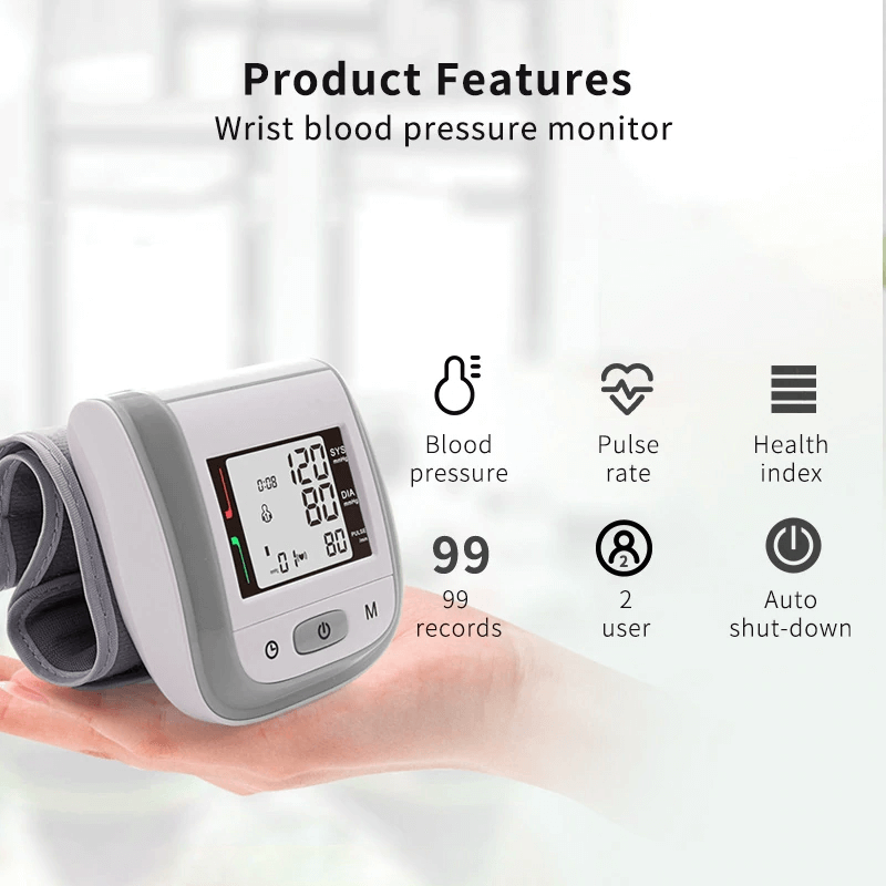 Family Health Device Pack | Fingertip Pulse Oximeter, Wrist Blood Pressure Monitor, Infrared Thermometer