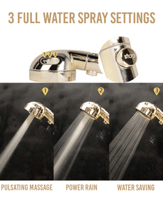Rapture Unlimited 3 In 1 High Pressure Showerhead