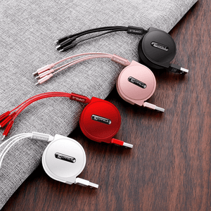 Rapture Unlimited 3-in-1 Retractable USB Charging Cable