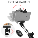 Rapture Unlimited 4 In 1 Mini Selfie Stick with Remote