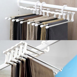 Rapture Unlimited BLACK 5 in 1 Retractable Closet Hanger