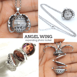 Rapture Unlimited Angel Memory Ball Necklace