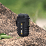 Rapture Unlimited BLACK ABS USB Charging Silent Lighter Waterproof & Windproof Outdoor Explorer