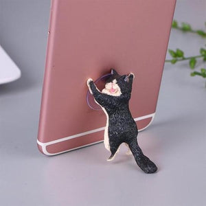 Rapture Unlimited BLACK Cute Cat Phone Holder