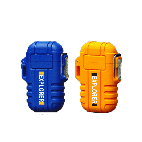 Rapture Unlimited BLUE+ORANGE【$16.99/PC】 ABS USB Charging Silent Lighter Waterproof & Windproof Outdoor Explorer