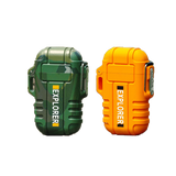 Rapture Unlimited CAMOUFLAGE+ORANGE【$16.99/PC】 ABS USB Charging Silent Lighter Waterproof & Windproof Outdoor Explorer