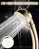Rapture Unlimited GOLD 3 In 1 High Pressure Showerhead