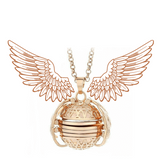 Rapture Unlimited GOLD Angel Memory Ball Necklace