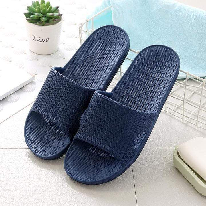 Rapture Unlimited NAVY / WOMEN US 5-6 Anti-Slip Home Slippers