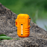 Rapture Unlimited ORANGE ABS USB Charging Silent Lighter Waterproof & Windproof Outdoor Explorer