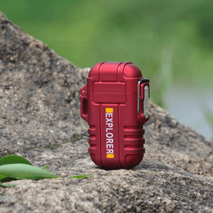 Rapture Unlimited RED ABS USB Charging Silent Lighter Waterproof & Windproof Outdoor Explorer