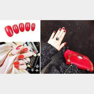 Rapture Unlimited RED Acrylic Press On Nail Set (24 PCS)