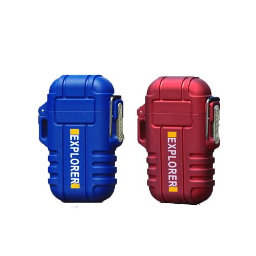 Rapture Unlimited RED+BLUE【$16.99/PC】 ABS USB Charging Silent Lighter Waterproof & Windproof Outdoor Explorer