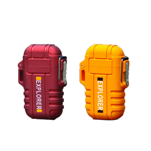 Rapture Unlimited RED+ORANGE【$16.99/PC】 ABS USB Charging Silent Lighter Waterproof & Windproof Outdoor Explorer