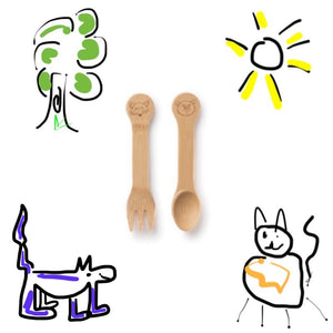 Bamboo Fork and Spoon for Kids (18M+)