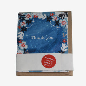 "Handcrafted & Plantable Wildflower Seed Card – ""Thank you!"""