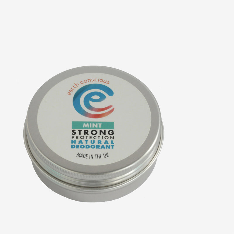 Earth Conscious Natural Deodorant Tin – Various Scents