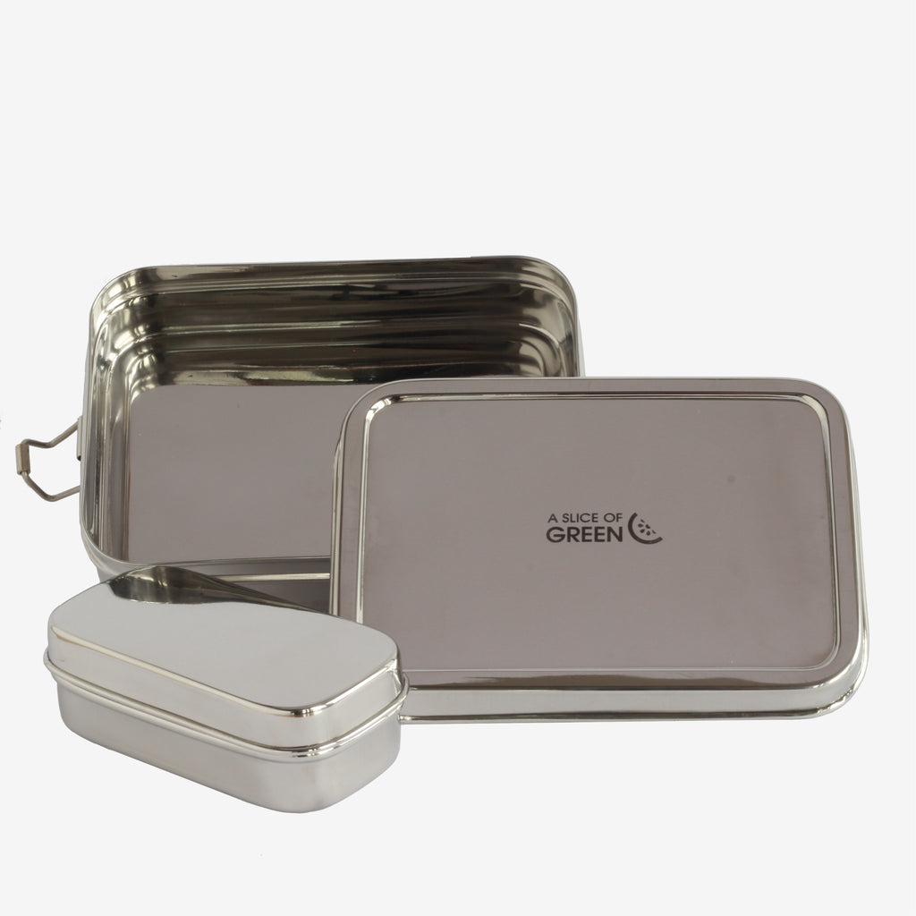 Rectangular Lunch Box with Mini Container