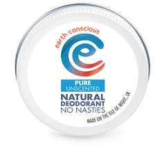 Earth Conscious Natural Deodorant Tin – Unscented
