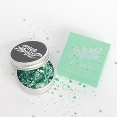A Beautiful Weirdo™ Plastic Free Glitter –  Cosmic Siren Green