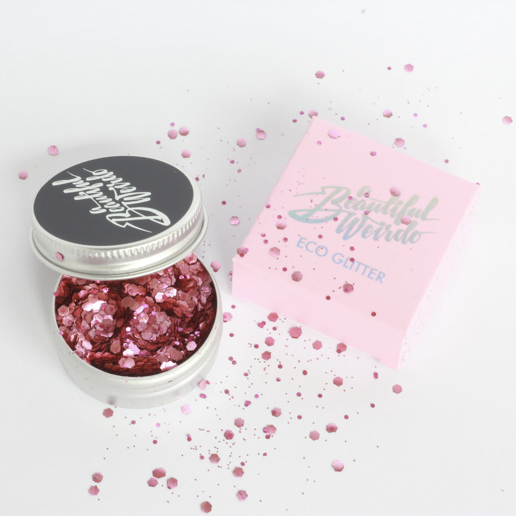 Plastic Free & Biodegradable Glitter - Disco Doll Pink