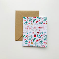 Handcrafted & Plantable Wildflower Seed Card –  Happy Christmas