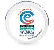 Earth Conscious Natural Deodorant Tin – Peppermint & Spearmint Strong Protection